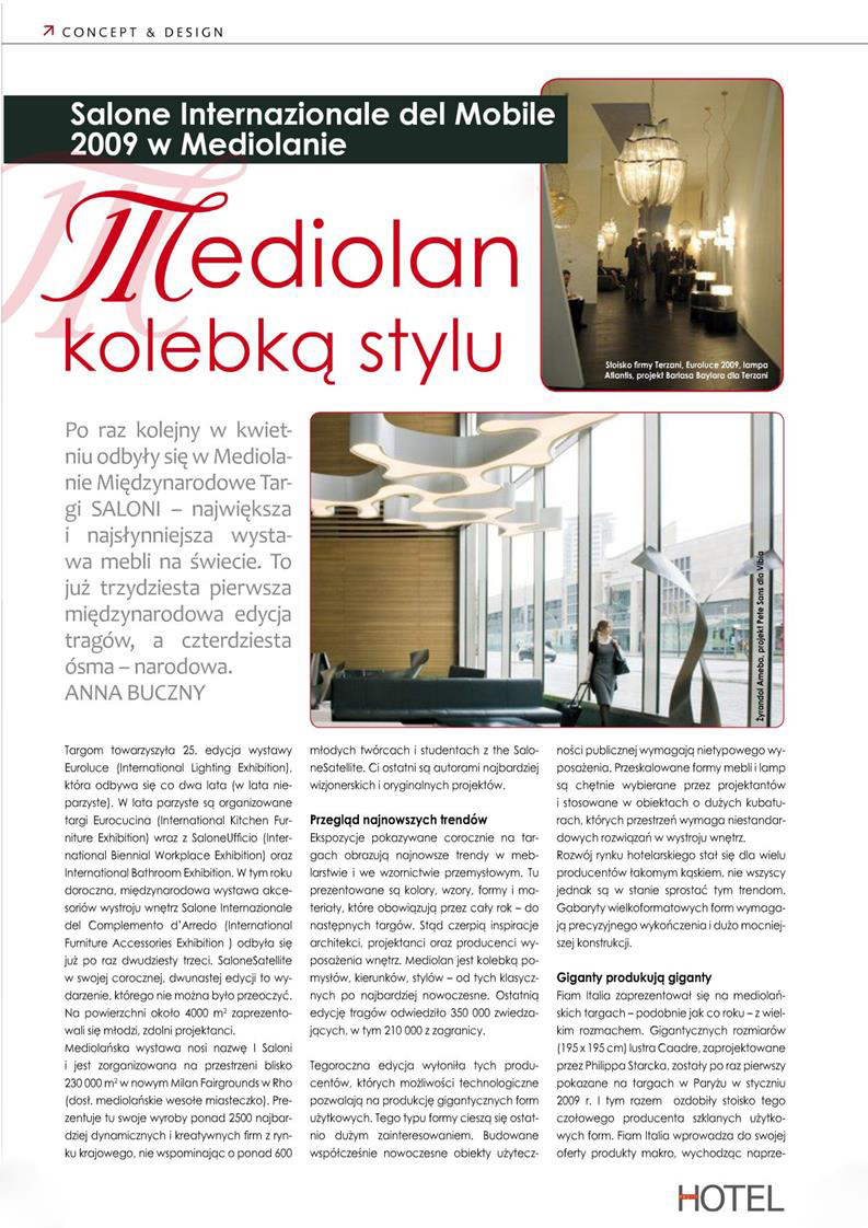 Mediolan kolebką stylu / Hotel Pro