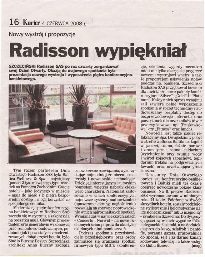 Radisson wypiękniał / Kurier Szczeciński