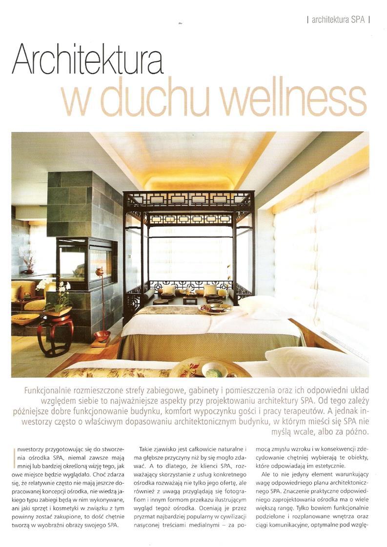 Architektura w duchu wellness / Profesjonalne SPA
