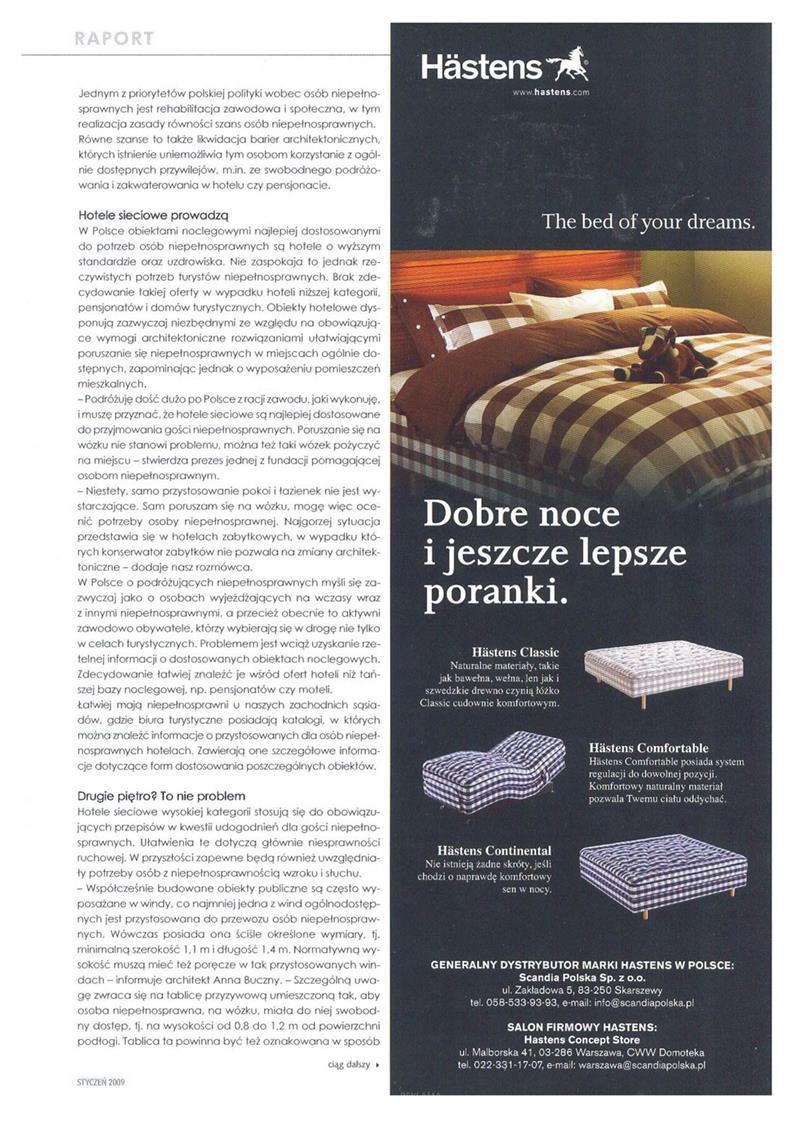 Praktyczne rozwiązania w hotelach. Architektura bez barier cz. II / Hotel Profit