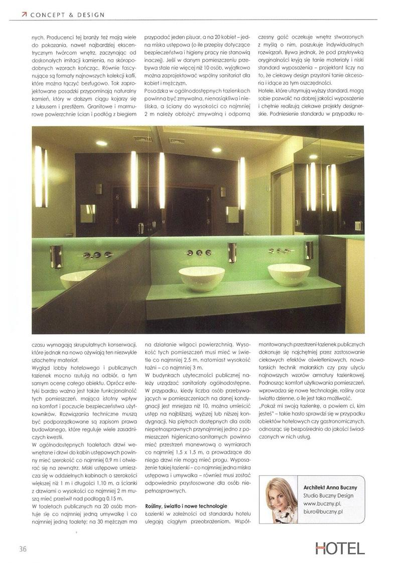 Łazienka ogólnodostępna. Bezpieczna i funkcjonalna / Hotel Profit